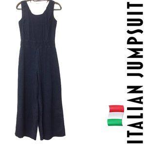 Italian Denim-Style Stretch Jumpsuit/Romper